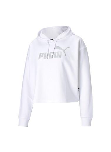 Puma Puma Kadın Beyaz-Gümüş Sweatshirt Beyaz
